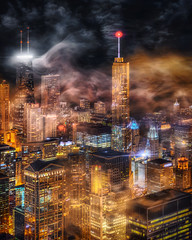 Color Storm (Mister Joe) Tags: above longexposure windows sky urban usa mist signs chicago storm streets color tower fog skyline modern night marina dark landscape golden 3d illinois nikon downtown neon waves cityscape view skyscrapers loop dusk sears united large joe aerial pop steam lakemichigan lakeshoredrive il sandstorm crown glowing swirls dynamicrange michiganavenue hancock fullframe dust trump drama iconic beacon hdr willis offices lakefront rockandroll daley blend mariott cityscenes hancockobservatory d600 allergen viewfrom lekas nighthdr 400north aerialchicago architectureandstructures