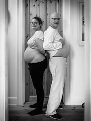 24 weeks and 48 years (nomanson) Tags: family blackandwhite bw copyright woman man home copenhagen denmark couple jan pregnant doorway ida gravid nakedbelly geo:country=denmark exif:make=fujifilm geo:city=copenhagen camera:make=fujifilm geostate exif:aperture=20 exif:isospeed=640 exif:focallength=71mm camera:model=x30 exif:model=x30 glassesdoor geo:location=jgersborggade