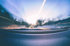 Dancing Light. (klweng) Tags: morning light car early trails mini olympus fisheye 35 in 75mm rokinon epm2