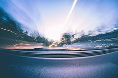 Dancing Light. (klweng) Tags: morning light car early trails mini olympus fisheye 35 in 75mm rokinon epm2