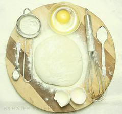 (bshaiers) Tags: wood white cooking kitchen one dough egg mixer spoon powder an eggs whites peel flour build yolk whiteness teaspoon
