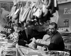 Le Charcutier (Geraint_T) Tags: street blackandwhite bw portugal noiretblanc market lisbon butcher pt rue march boucher charcuterie charcutier praadafigueira