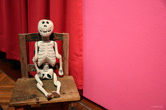 Sin desespero (Cadeva) Tags: mxico rosa silla artesana calavera calaca