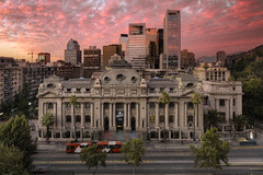 National Library Of Chile (Biblioteca Nacional de Chile),   Santiago, Chile, South America :: HDR (:: Artie | Photography ::) Tags: chile road city santiago sunset building bus skyline architecture photoshop canon outdoor library engineering wideangle structure f28 ef hdr chilean artie 1813 1635mm 3xp avenidalibertador photomatix cs6 tonemapping tonemap bibliotecanacionaldechile 5dmarkiii 5dm3 nationallibraryofchile generalbernardoohiggins