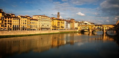 Firenze (antony5112) Tags: city houses sunset sky clouds buildings reflections river town florence tramonto fiume bridges sunsets case ponte rivers firenze tramonti arno pontevecchio citt ponti fiumi