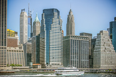 Downtown Cityscape... (12bluros) Tags: city newyorkcity geometric skyline architecture buildings pier boat cityscape unitedstates manhattan financialdistrict eastriver geometrical 1001nights skyscapers downtownmanhattan canonef28135mmf3556isusm seastreak ef28135mmf3556isusm newyorkcityusa oneworldtradecenter 1001nightsmagiccity pier11wallstreet 120wallstreetnewyorkny 40wallstreetnewyorkny