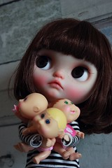 Yes I need them all. Because i was very upset because I wasnt allowed to play ball and dolls make me happy! (Vainilladolly) Tags: toy bigeyes doll ooak teeth kawaii blythe custom hiro flickrtoys blythedoll fbl customblythe customdoll toyphotography blythephotography vainilladolly cheriebabette