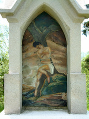 Wegzeichen Hl.Sebastian (edgarhohl) Tags: saint bayern sebastian gemlde hlsebastian