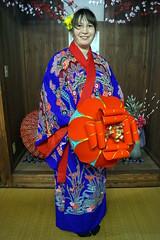 Okinawas Kimono (olga.buth) Tags: world japan clothing  okinawa kimono tradition  attraction  kleidung bunka  gyokusendo   atraktion  okoku       seehenswrdigkeit