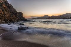 AMP_5357_1 (Amparo Hervella) Tags: sunset sea espaa water rock landscape atardecer mar spain agua nikon paisaje cartagena roca calacortina d7000 nikond7000