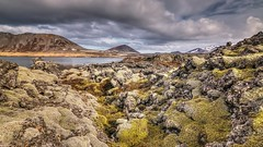 Icelandic lava (Geinis) Tags: sky mountain mountains nature clouds canon landscape lava iceland moss spring sland snfellsnes tokina1116mmf28 canon70d