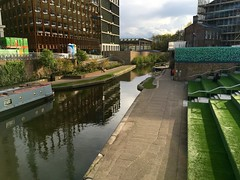 Regents Canal - Kings Cross to Camden, London, England (PaChambers) Tags: uk sunset england urban london canal europe camden april kingscross stpancras waterway regents iphone 2016