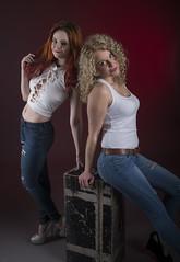 Beauty x 2 (miroslav.tokarsky) Tags: red two portrait hot art hair studio pentax models tint blond sexi portaiture