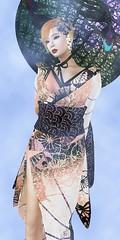 kasa~omoshiroA~ (ayame ame) Tags: japan secondlife kimono  kasa kanzashi  kokorotayori