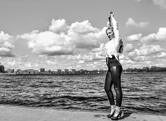 Kim Lobbezoo 11 (M van Oosterhout) Tags: portrait people woman sun lake holland cute netherlands girl beautiful face fashion female clouds model pretty photoshoot modeling stunning editorial