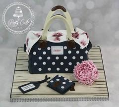 Cath Kidston Handbag Birthday Cake. (Ponty Carlo cakes) Tags: pink cake peony birthdaycake cathkidston pinkpeony cathkidstonhandbagcake pontycarlocakes
