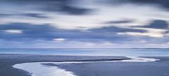 Evening, Hellest beach - D8D_9271 (Viggo Johansen) Tags: longexposure sunset sea sky beach norway clouds coast sand waves rogaland hellest hellestbeach