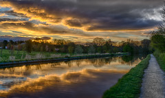 Spring Sunrise (chaotic river) Tags: water clouds reflections lancashire lancastercanal bilsborrow hdrefexpro2