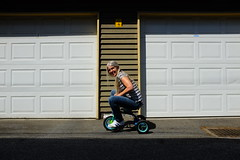 Three Wheelin' (eddi_monsoon) Tags: portrait selfportrait self alley tricycle 365 selfie threesixtyfive