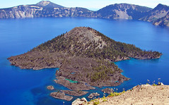 Wizard Island, Crater Lake, OR 2006 (inkknife_2000 (6 million views +)) Tags: usa oregon landscape volcano parks nationalparks craterlakenationalpark dgrahamphoto