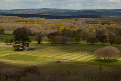 An English scene | Around Duncton | West Sussex-1 (Paul Dykes) Tags: uk england panorama tree clouds downs landscape sussex westsussex sunny cricket hills match downland duncton cricketwhites