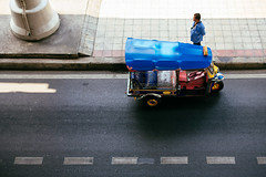 Tuk Tuk (DEARTH !) Tags: street travel color thailand asia southeastasia bangkok aerial transportation tuktuk dearth