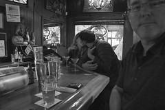 The Page - San Francisco, CA (Rex Mandel) Tags: sf sanfrancisco portrait blackandwhite bw monochrome bar lowlight kissing candid haightashbury lowerhaight barscene kissingcouple