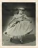 Little girl showing off the full skirt of her dress (sctatepdx) Tags: snapshot littlegirl vernacular vintagedress vintagegirl vintagehat oldsnapshot vintagesnapshot
