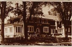 Zona Gale's MacFarlane St House, B&W Postcard
