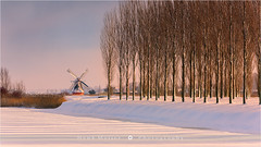 Noordermolen in Winter - Netherlands (~ Floydian ~ ) Tags: winter light snow holland mill netherlands windmill canon landscape photography groningen molen noorddijk floydian noordermolen canoneos1dsmarkiii henkmeijer