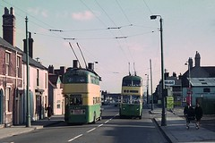 Wolverhampton's last day of trolleybus operation (Lady Wulfrun) Tags: last march day traction ct pole 1967 operation 5th 449 roe trolleybus wolverhampton revo wct 447 silverblue ejw447 ejw449