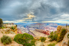 Grand Canyon HDR (LB-fotos) Tags: park arizona people usa colors landscape us nationalpark colorful angle outdoor grandcanyon wide grand wideangle canyon menschen fisheye national manual 8mm landschaft hdr chinon schlucht 65mm grandcanyonvillage