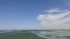 Sea and the blue sky (Quique CV) Tags: sea summer sky costa beach water valencia clouds coast mar agua mediterranean playa cielo verano mediterráneo begademar solmanar