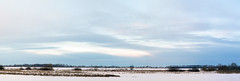 Soft sky above The Volga (andrey.senov) Tags: winter sky panorama snow ice clouds river frost fuji russia january bayou fujifilm volga       kostroma     xa1  35faves   fujifilmxa1
