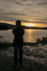 Son Shooting The Sun (Colin Myers Photography) Tags: sunset sun silhouette colin set night photography scotland warm brothers scottish son reservoir loch myers midlothian gladhouse colinmyersphotography