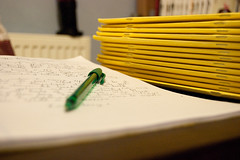 January 8th Day 366 Challenge (yol72) Tags: school pen writing work teacher marking exercisebooks