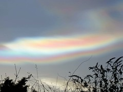 02Feb16 Nacreous Close (Daisy Waring World) Tags: pink sky cloud silver motherofpearl nacreous torquoise