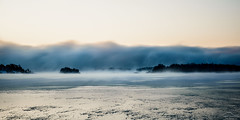 Freezing ocean (Arto Leppnen Photography) Tags: ocean blue winter ice fog suomi finland landscape helsinki talvi meri maisema usva vuosaari j sumu