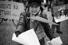 Berlin | Vietnamese protest (AlexSolomatin) Tags: street travel berlin against germany deutschland europe protest vietnam communism