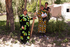 Women in one of many villages (Michal Pawelczyk) Tags: trip people holiday bike bicycle june children nikon asia flickr aim centralasia pamir wakacje 2015 czerwiec panj azja d80 pamirhighway gbao azjasrodkowa azjacentralna