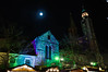 #2/52 Colors under the moon. (Chris Steinert) Tags: christmas old blue moon green church colors night nikon market violet d5000