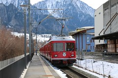 2016-02-06, RhB, Landquart Ried (Fototak) Tags: train switzerland railway s1 sbahn treno 511 rhb graubnden schmalspurbahn
