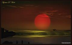 Era una foto con un tratto di mare ed un pezzo di cielo arrossati dal tramonto - Gennaio-2016 (agostinodascoli) Tags: art texture nature photoshop nikon mare digitalart fullmoon cielo nikkor paesaggi photopainting