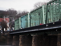 Over the state line (pilechko) Tags: bridge color cloudy newhope lambertville