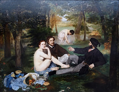 Manet, Le djeuner sur l'herbe (Luncheon on the Grass), 1863 (profzucker) Tags: impressionism realism manet musedorsay 1863 ledjeunersurlherbe luncheononthegrass manetlunch