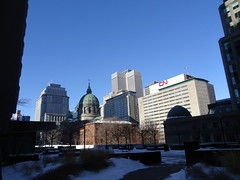 View of downtown Montreal from the Canada Life Building (chibeba) Tags: city winter vacation urban holiday canada montral quebec montreal january northamerica qc 2016 citybreak