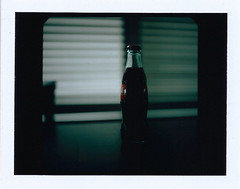 Coke (Doce Vientos) Tags: mamiya window bottle shadows coke fujifilm medium format cocacola fp100c