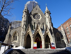 Christ Church in Montreal (chibeba) Tags: city winter vacation urban holiday canada montral quebec montreal january northamerica qc 2016 citybreak