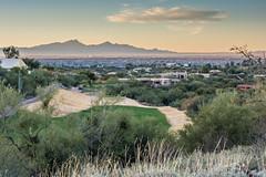 Sunrise in Tucson (EvanJawnson) Tags: morning arizona skyline sunrise golf 50mm early nikon dof desert tucson d5200