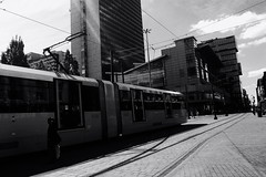 TheCityTram (Clive Varley) Tags: bw manchester transport gimp gmic